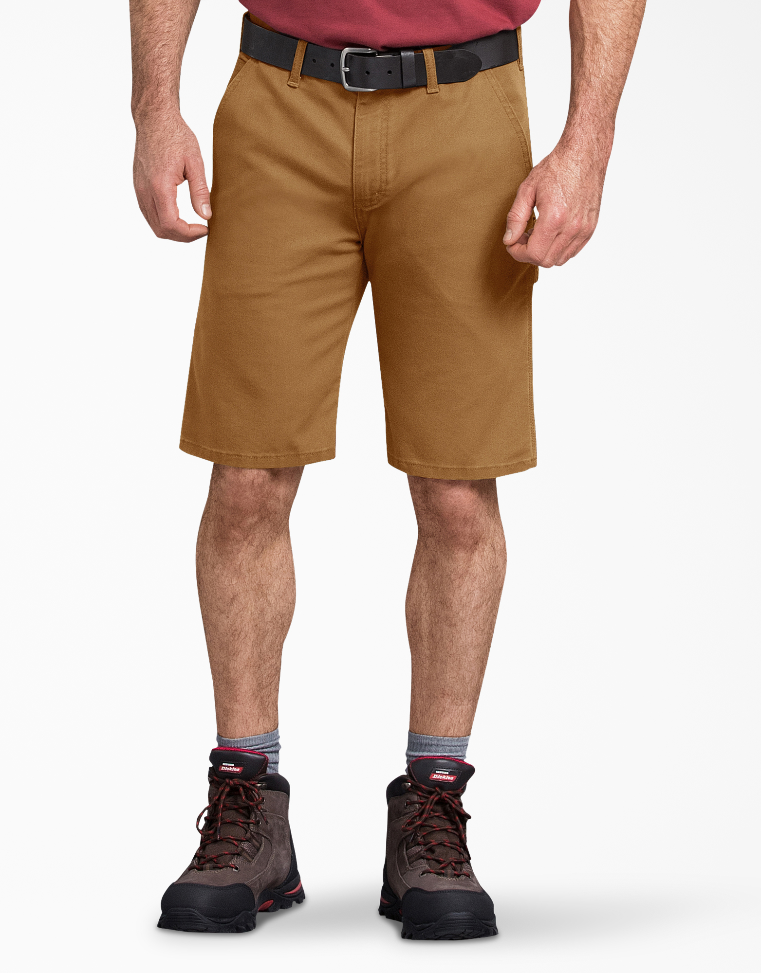 "11"" Tough Max™ Duck Carpenter Shorts - Stonewashed Brown Duck (SBD)"