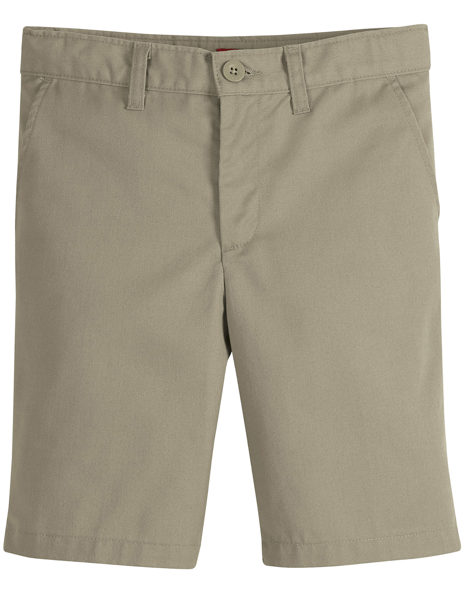 Juniors Schoolwear Slim Fit Flat Front Shorts - Desert Khaki (DS)