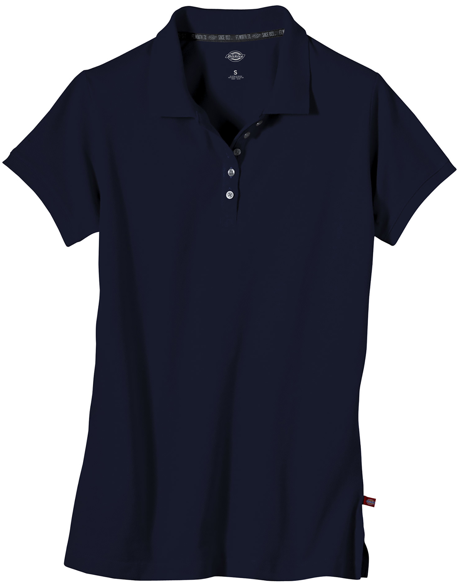 Women's Plus Size Solid Piqué Polo Shirt - Dark Navy (DN)