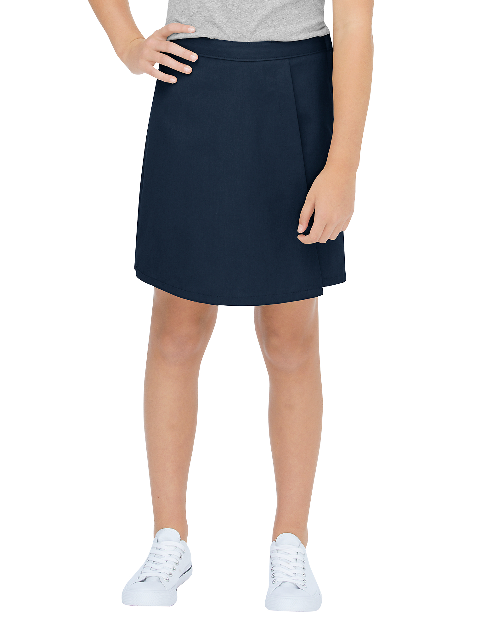 Girls' Faux Wrap Skort, 4-16 - Dark Navy (DN)