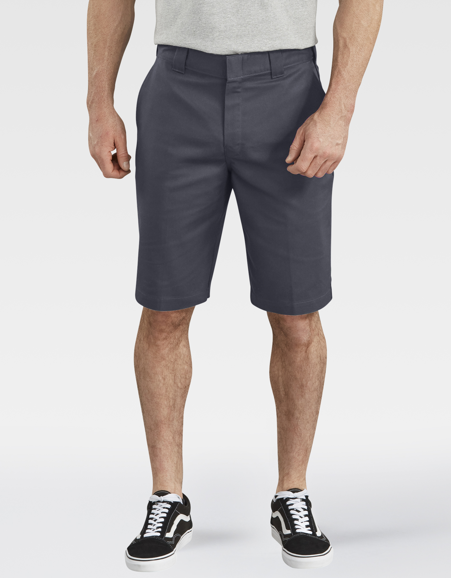 "11"" FLEX Temp-iQ™ Active Waist Flat Front Shorts - Charcoal Gray (CH)"