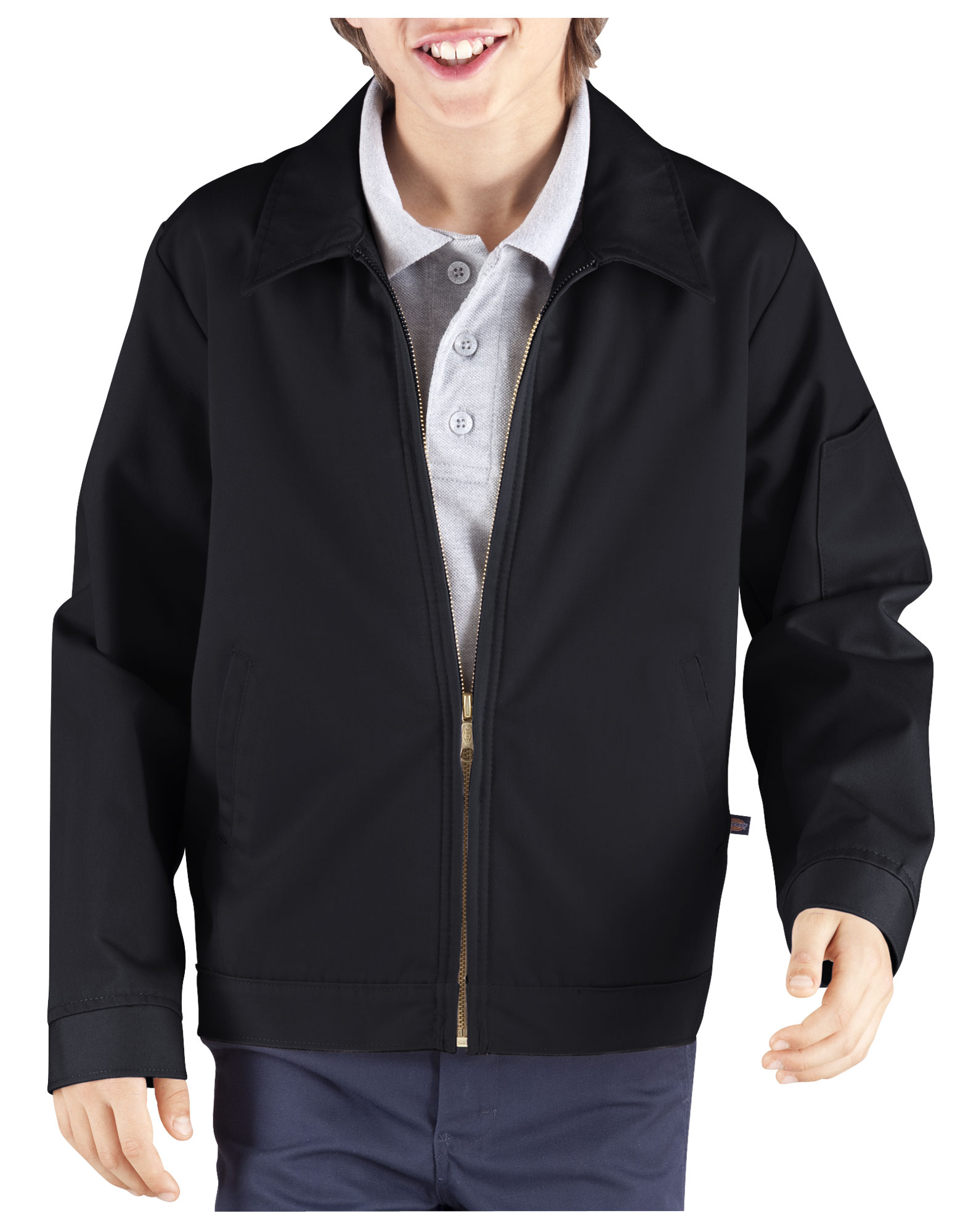 Kids' Eisenhower Jacket, 8-20 - Rinsed Black (RBK)