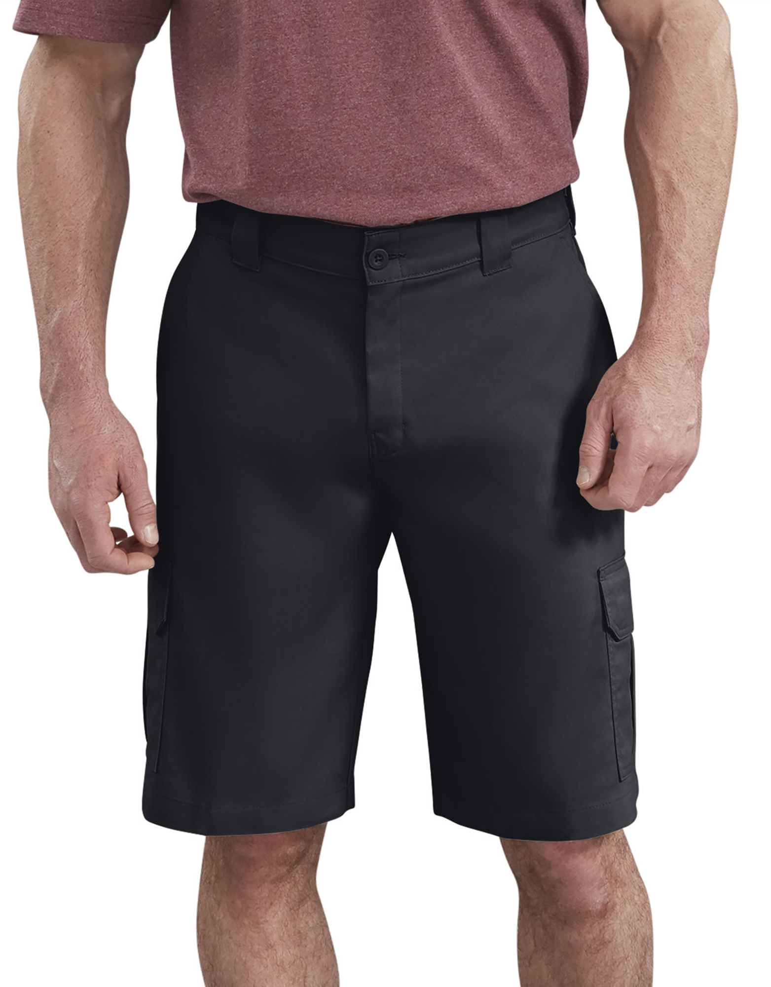 "11"" FLEX Temp-iQ™ Active Waist Cargo Shorts - Black (BK)"