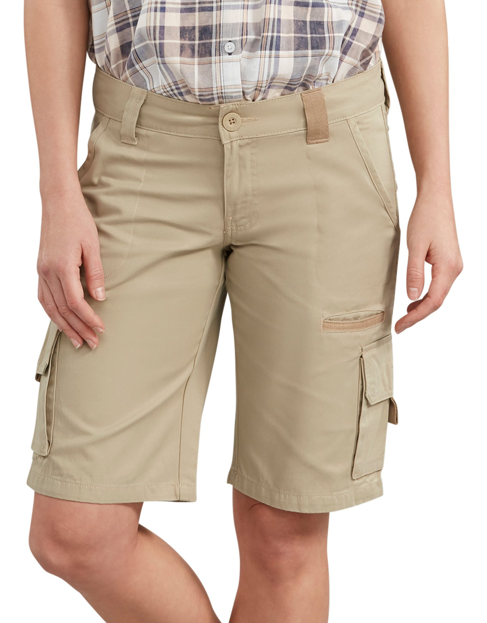 "Women's 11"" Relaxed Fit Cotton Cargo Shorts - Desert Khaki (RDS)"