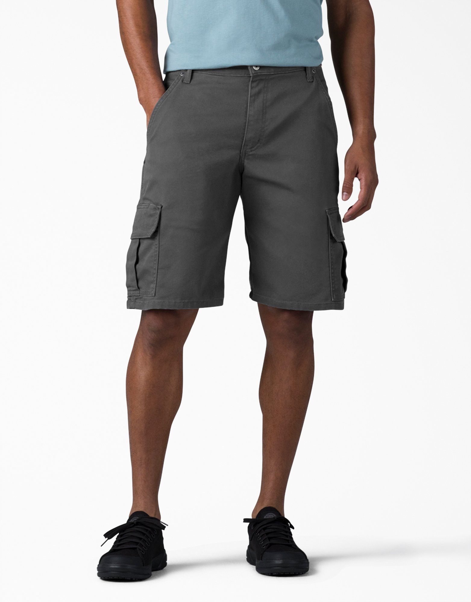"11"" Relaxed Fit FLEX Tough Max™ Duck Cargo Shorts - Stonewashed Gray (SSL)"