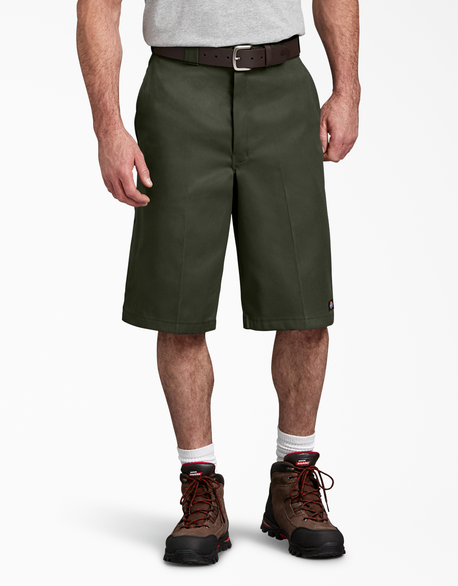 "13"" Loose Fit Multi-Use Pocket Work Shorts - Olive Green (OG)"
