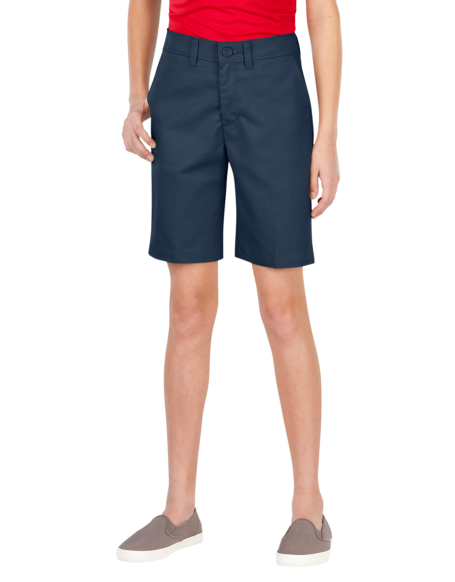 Girls' FlexWaist® Slim Fit Flat Front Shorts, 4-20 - Dark Navy (DN)