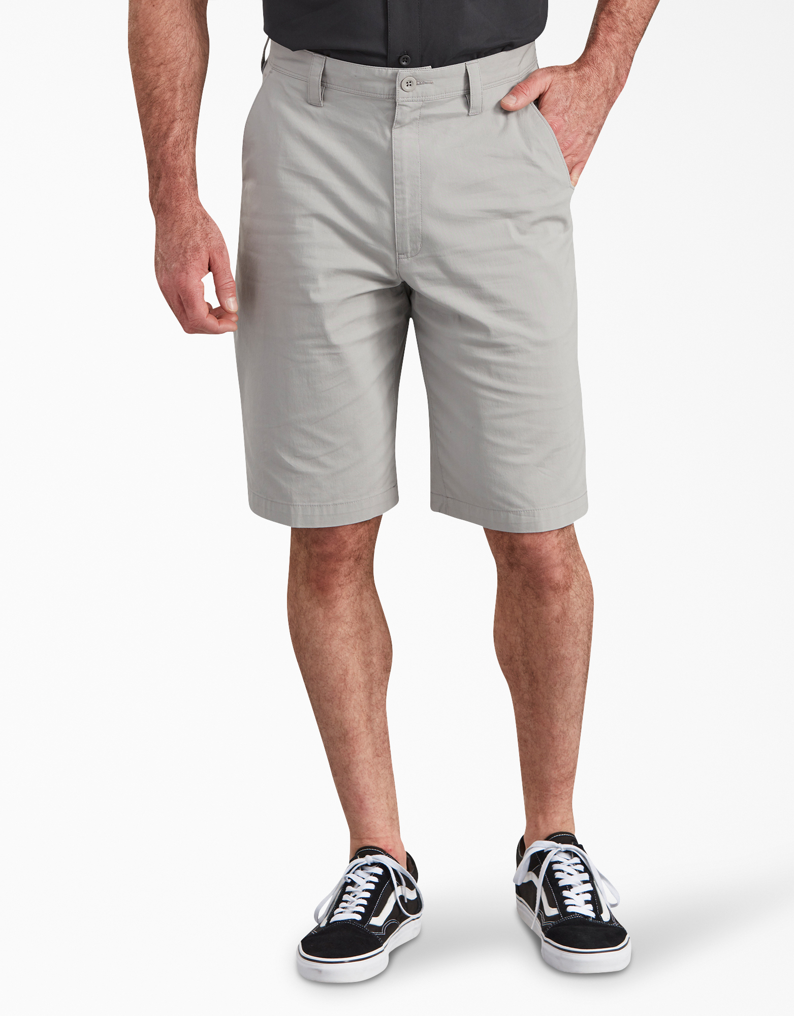 "11"" Cooling Temp-iQ® Performance Hybrid Utility Shorts - Nickel Gray (KL)"