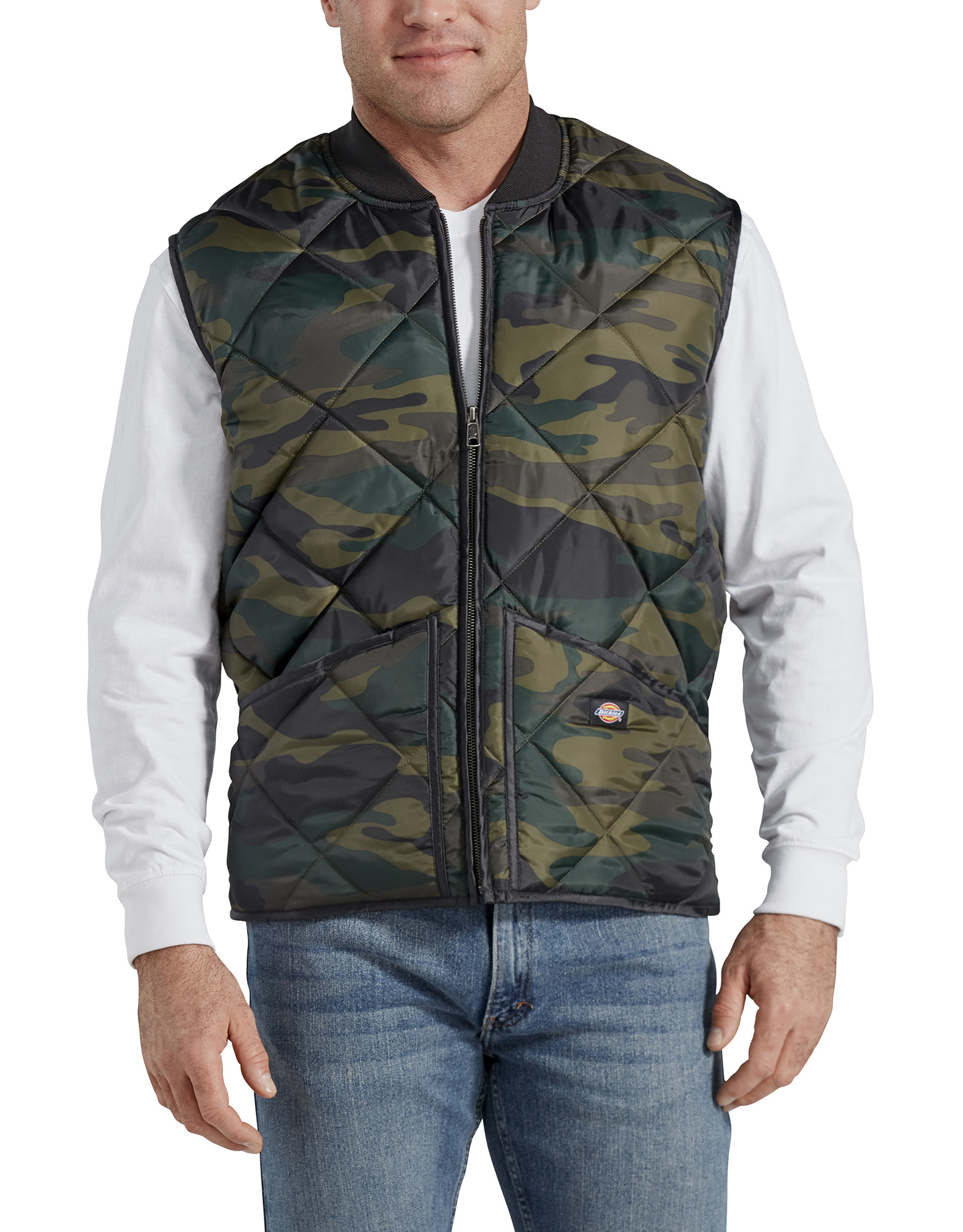 Camo Diamond Quilted Nylon Vest - Hunter Green Camo (HRC)