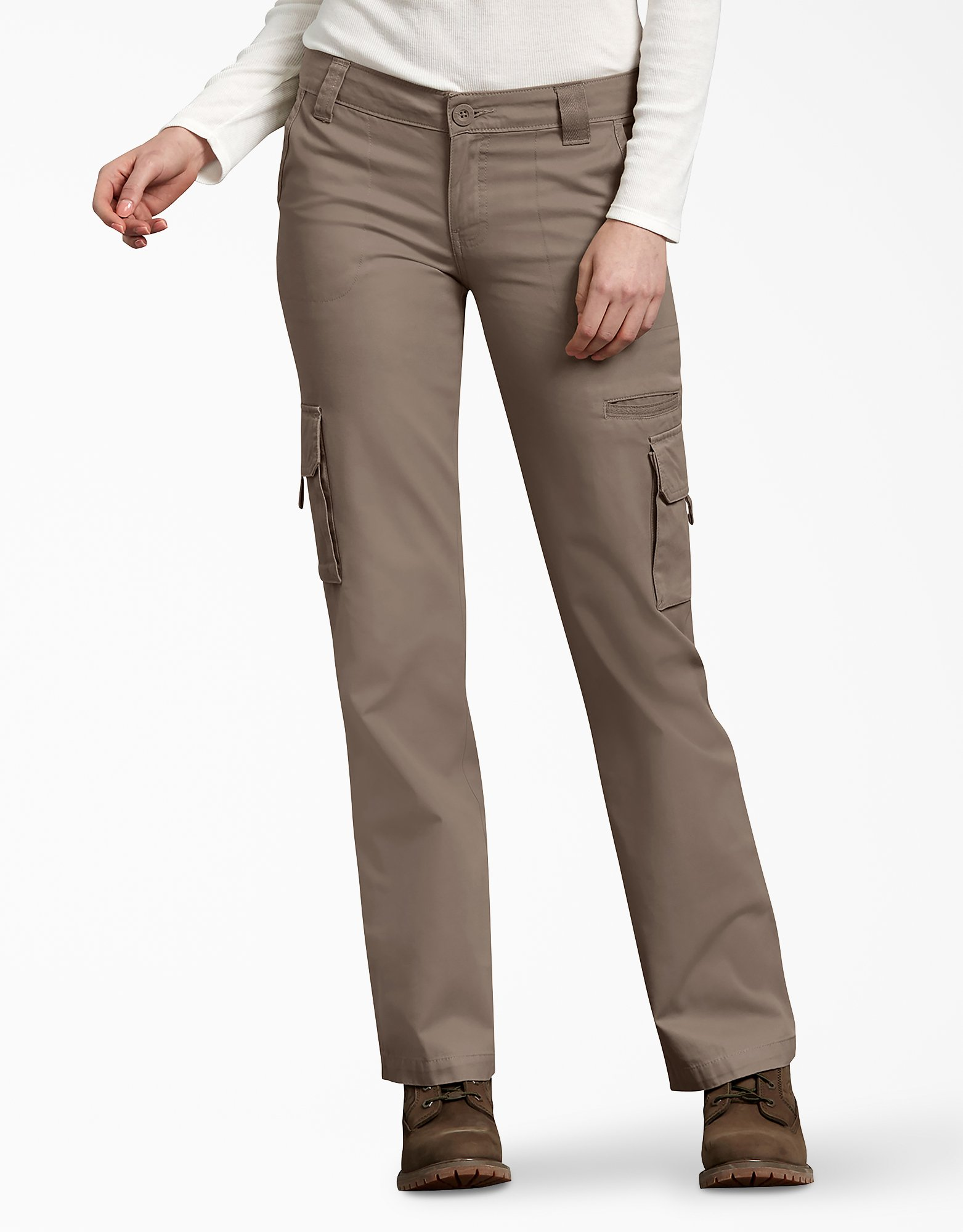 Women's Relaxed Cargo Pants - Pebble Brown (RNP)