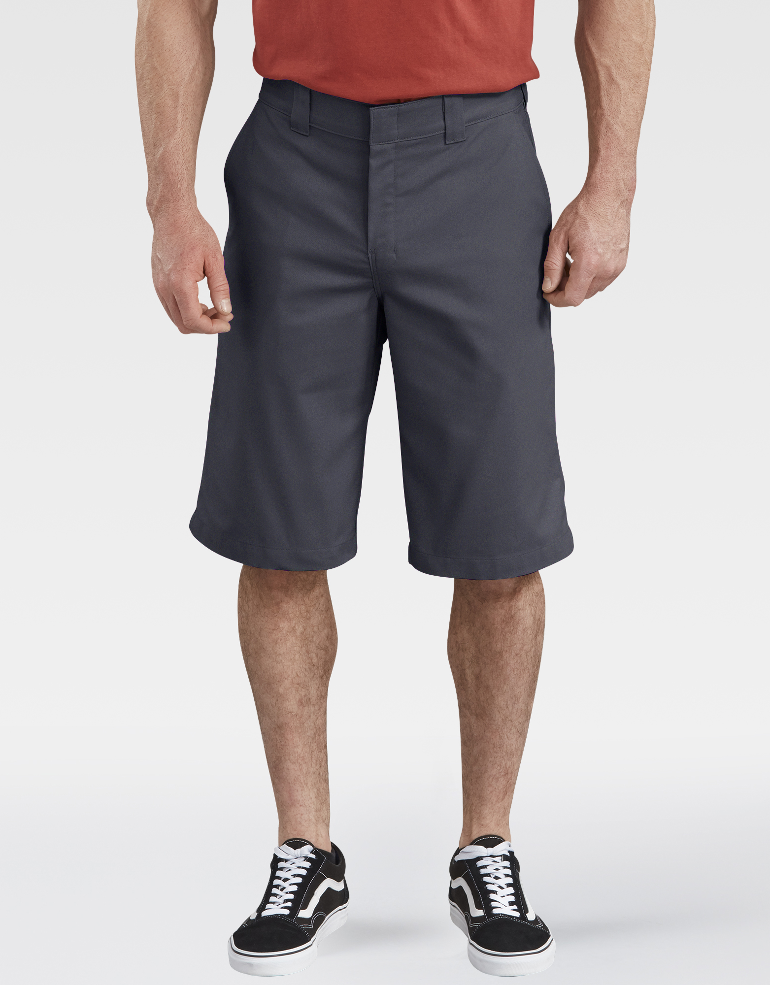 "13"" FLEX Temp-iQ™ Active Waist Flat Front Shorts - Charcoal Gray (CH)"