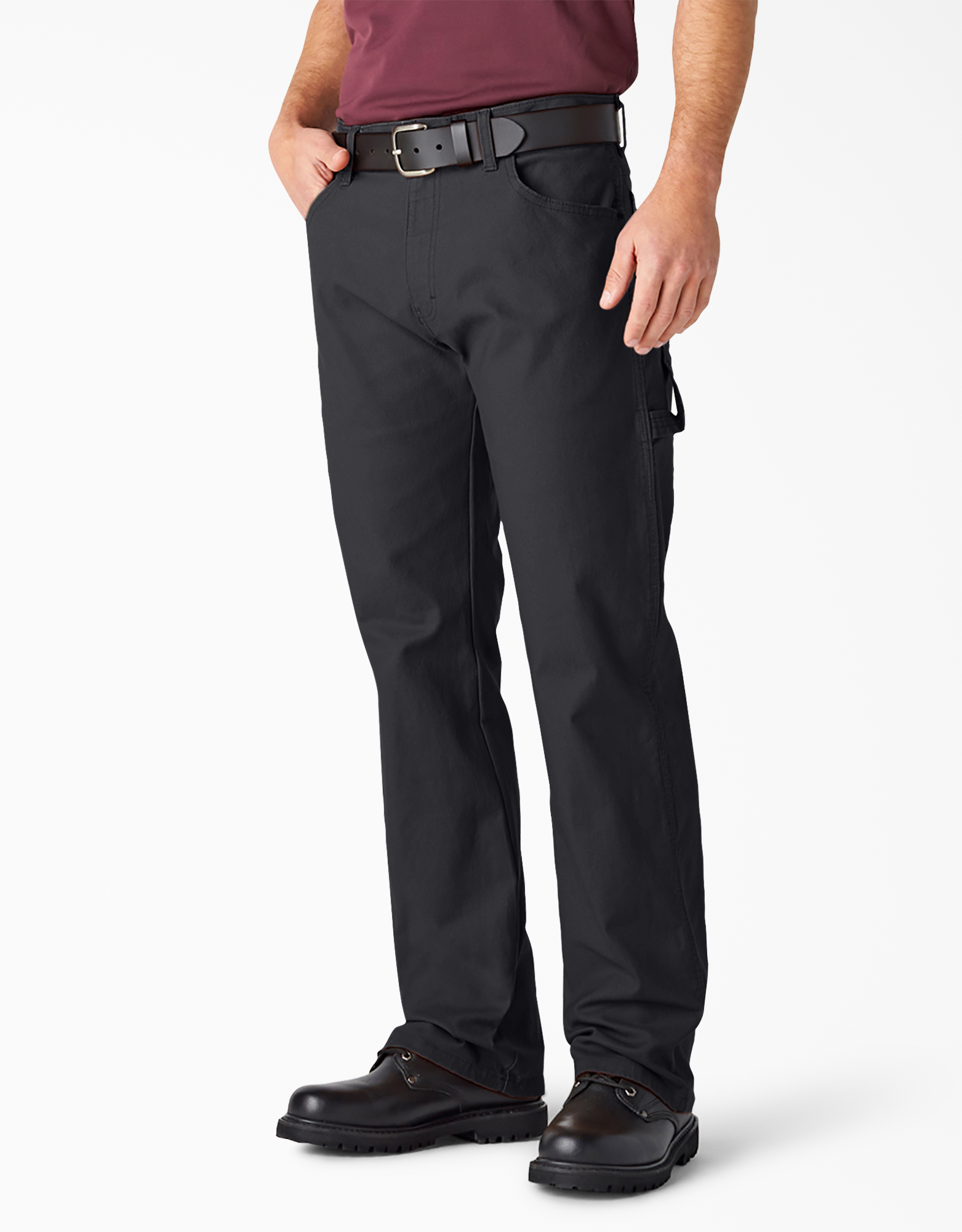 Relaxed Fit Straight Leg Carpenter Duck Jeans - Rinsed Black (RBK)