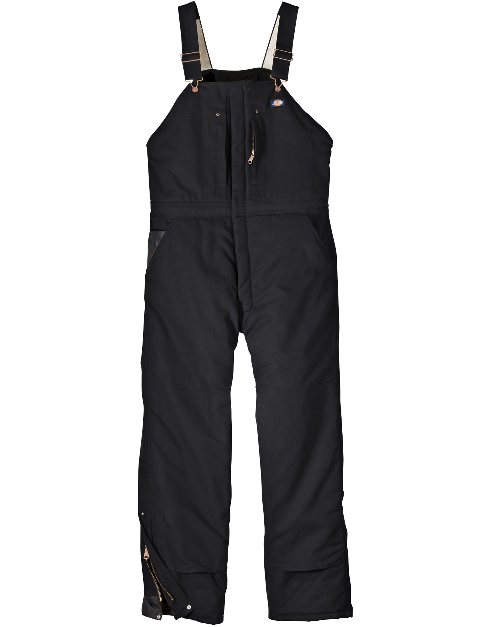 Sanded Duck Insulated Bib Overalls - Black (BK)