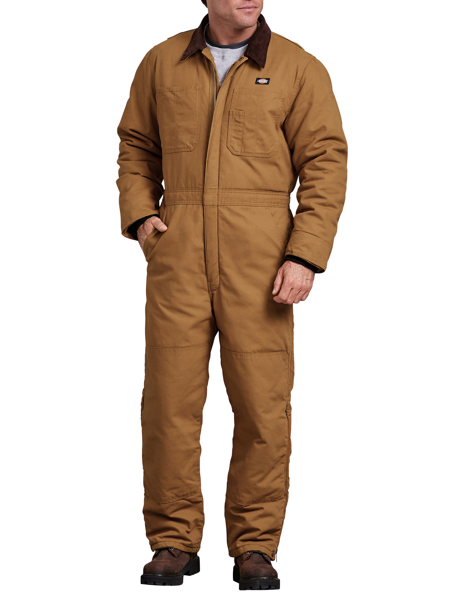 Sanded Duck Insulated Coveralls - Brown Duck (RBD)