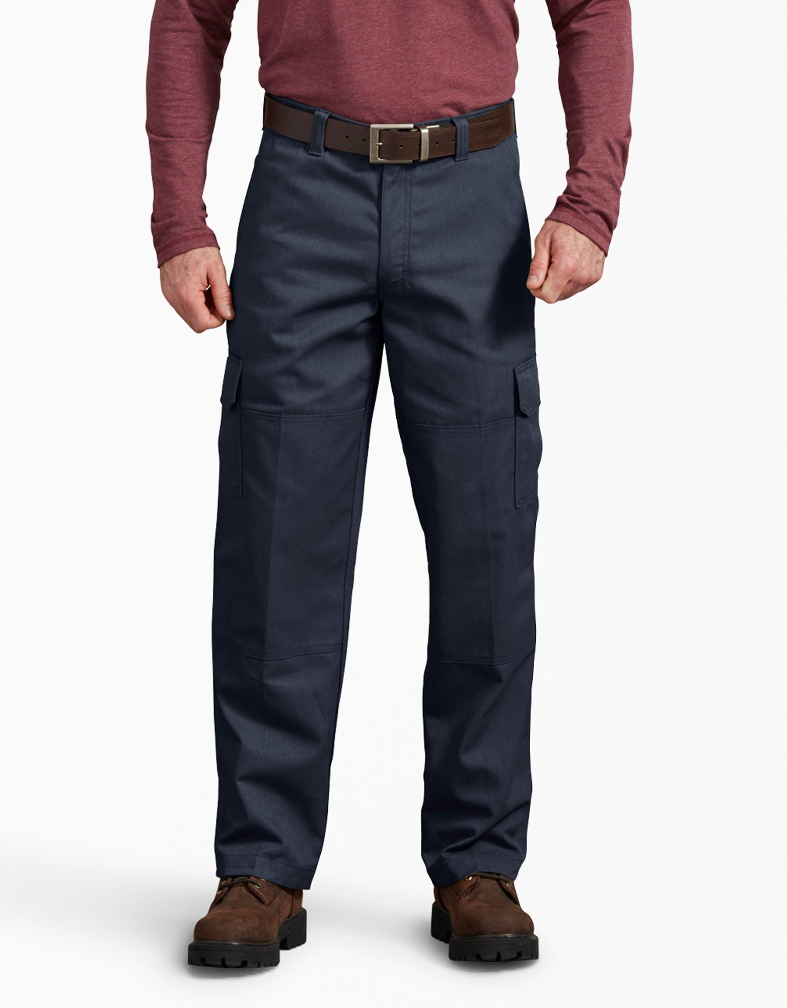 FLEX Active Waist Regular Fit Cargo Work Pants - Dark Navy (DN)
