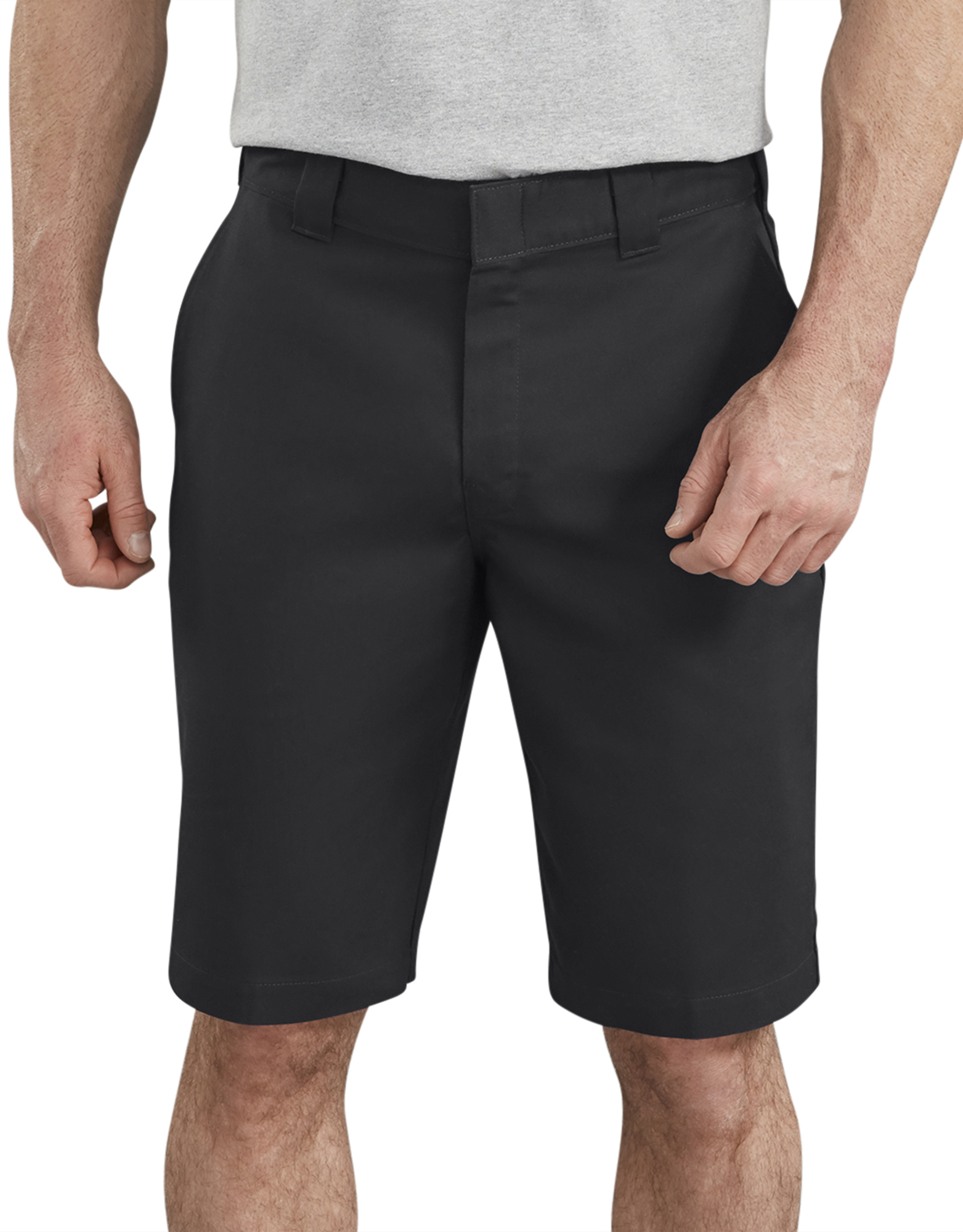 "11"" FLEX Temp-iQ™ Active Waist Flat Front Shorts - Black (BK)"