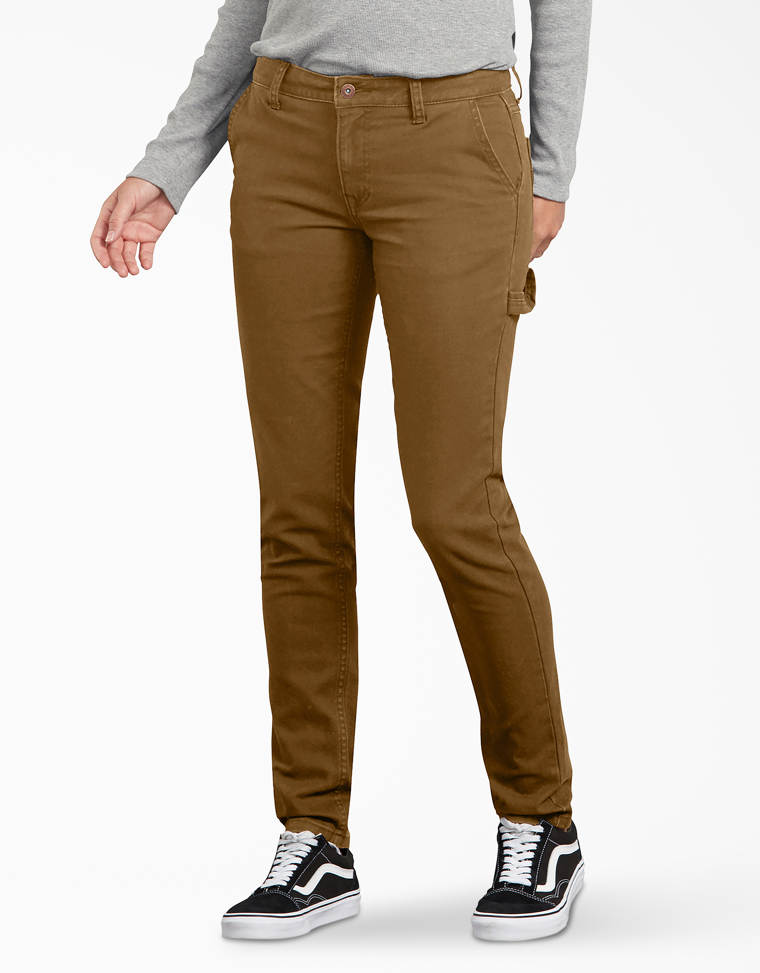 Women's Stretch Washed Duck Carpenter Pants - Brown Duck (RBD)