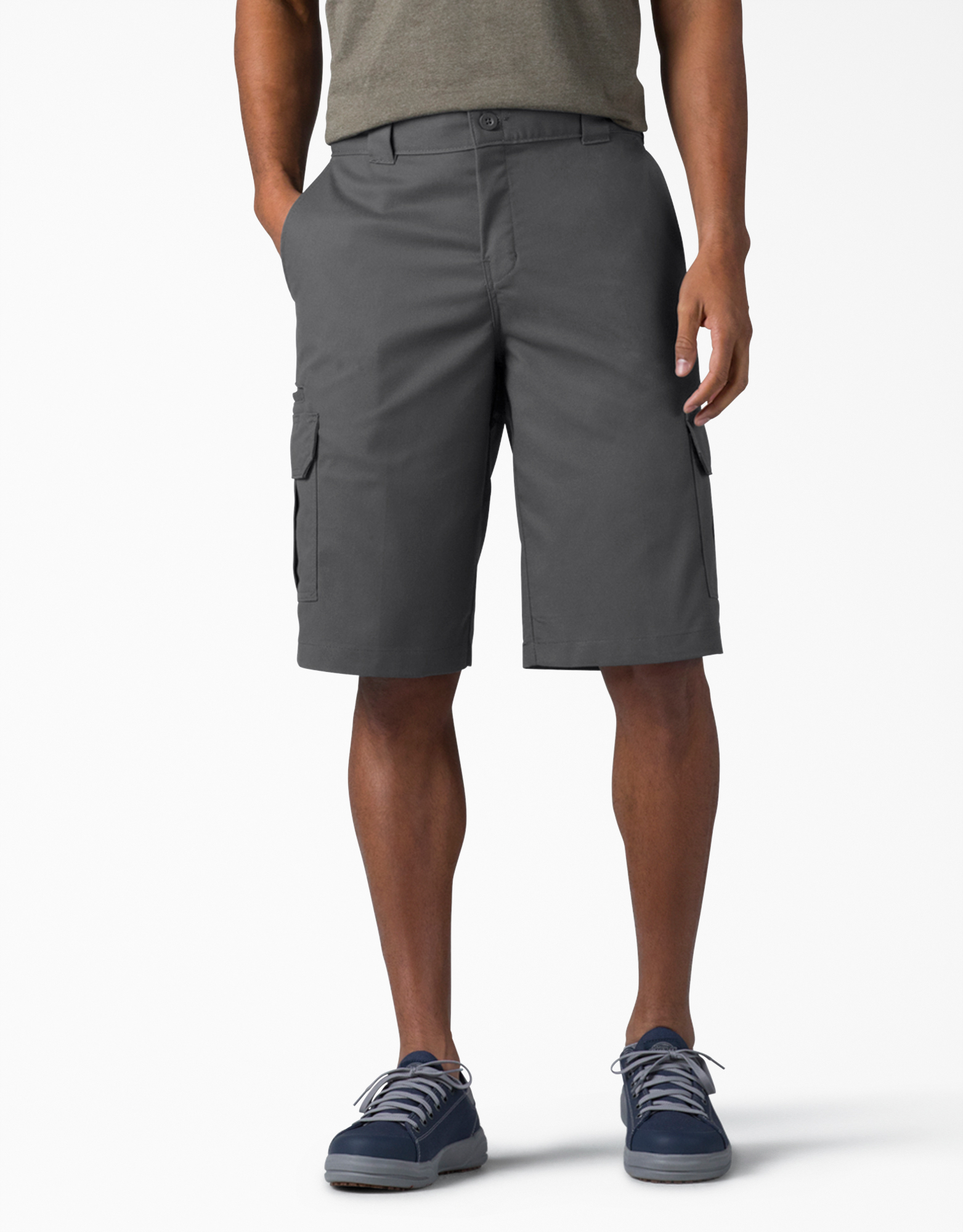 "FLEX 13"" Relaxed Fit Cargo Shorts - Charcoal Gray (CH)"