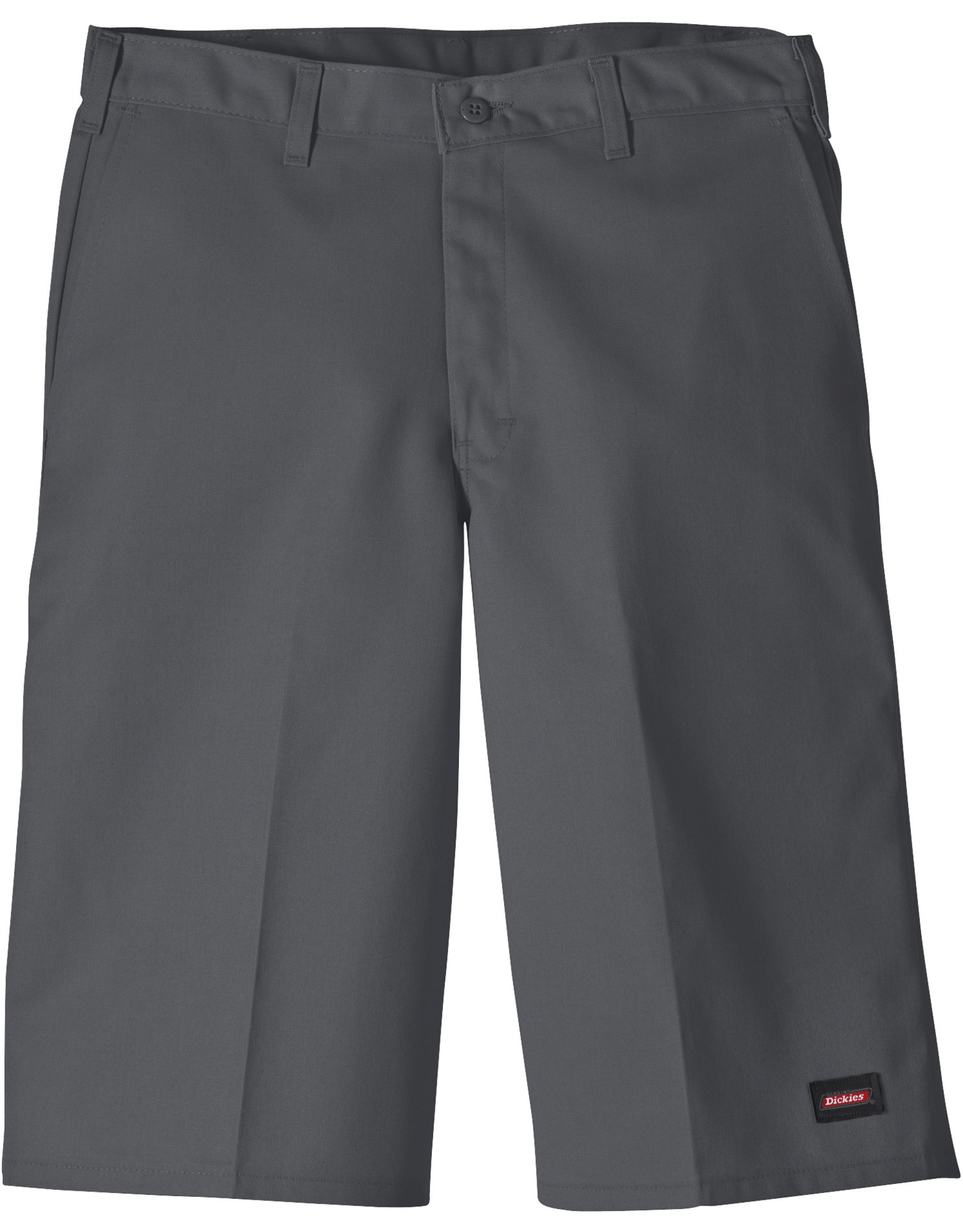 "Genuine Dickies 13"" Flat Front Multi-use Pocket Shorts - Charcoal Gray (CH)"