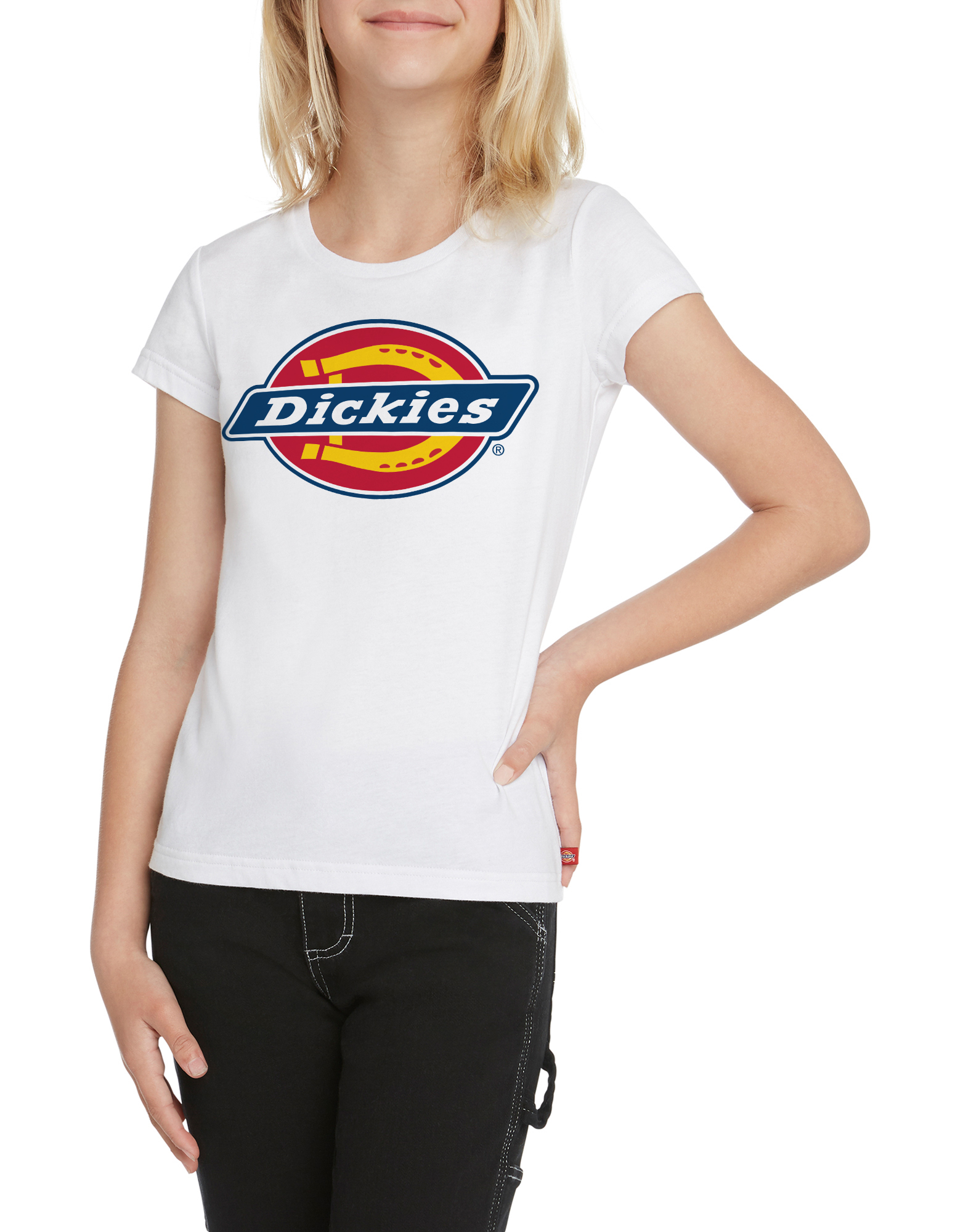Girls' Short Sleeve Logo T-Shirt - White (WH)