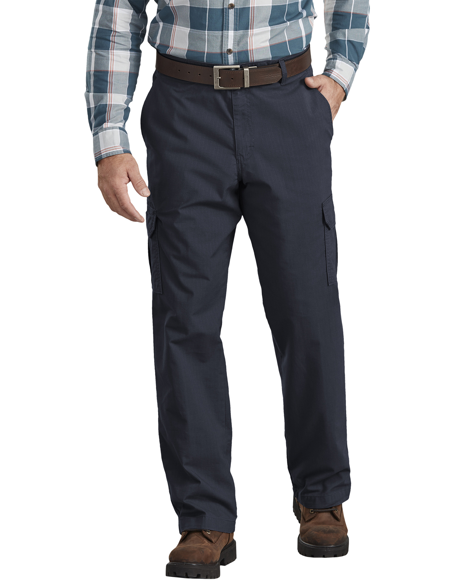 FLEX Regular Fit Ripstop Tough Max™ Cargo Pants - Dark Navy Blue (RDN)