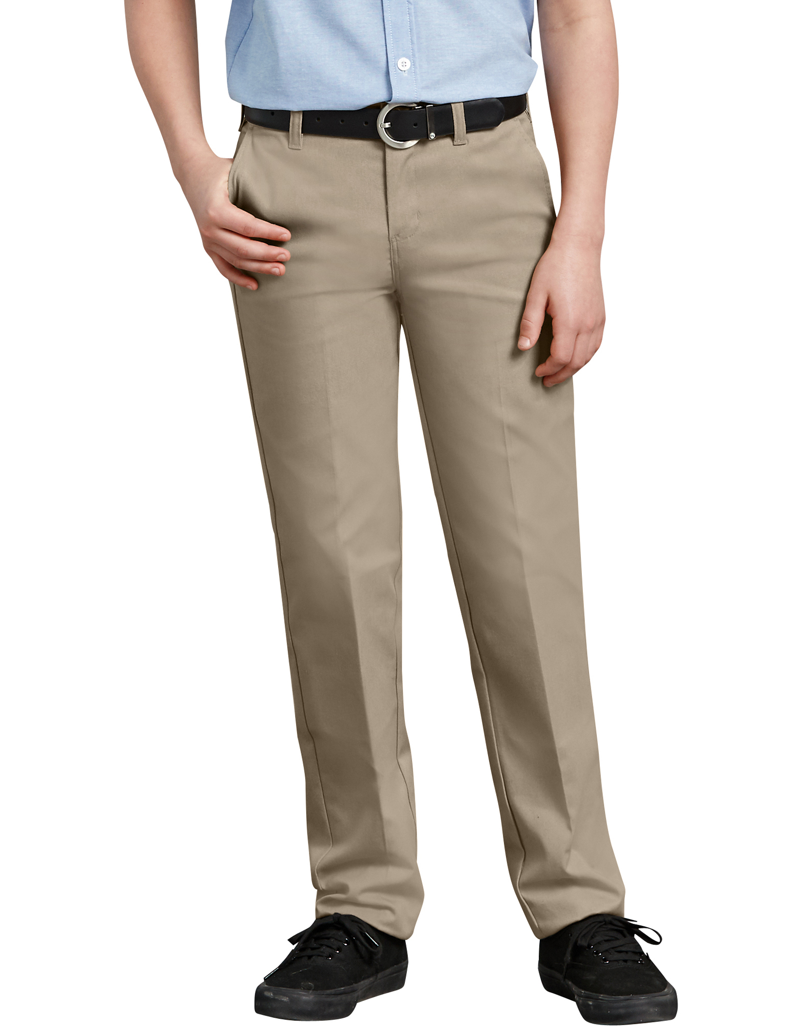 Boys' FlexWaist® Slim Fit Straight Leg Ultimate Khaki Pants, 4-7 - Desert Khaki (DS)