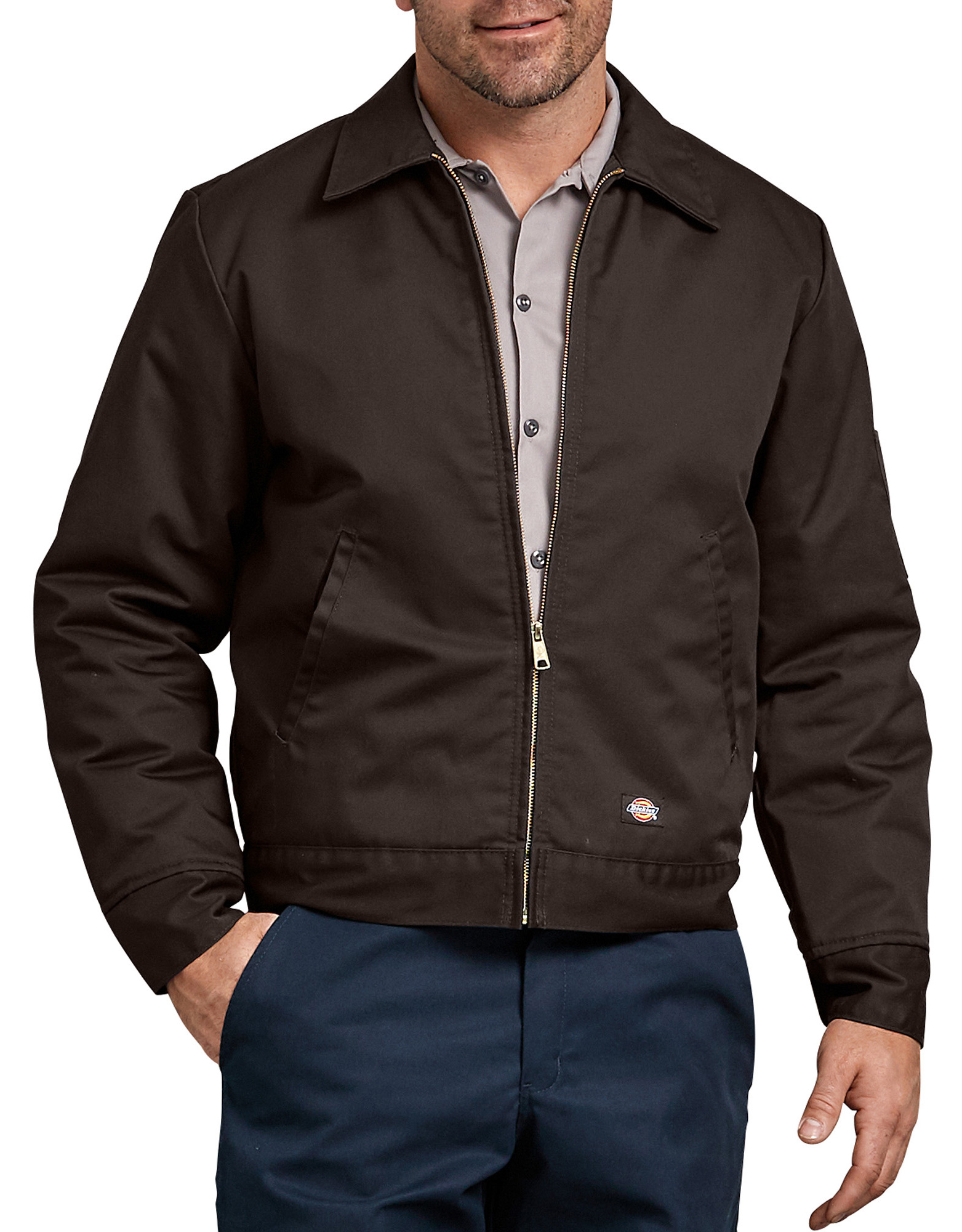 Insulated Eisenhower Jacket - Dark Brown (DB)