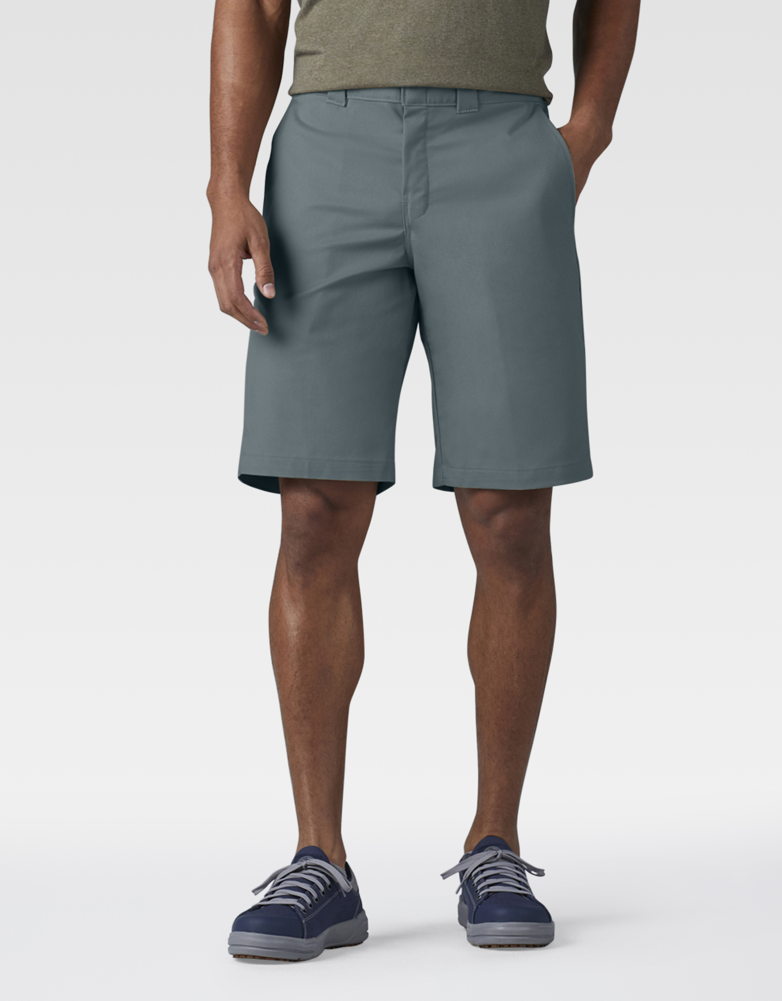 "FLEX 11"" Relaxed Fit Work Shorts - Smoke Blue (BM)"