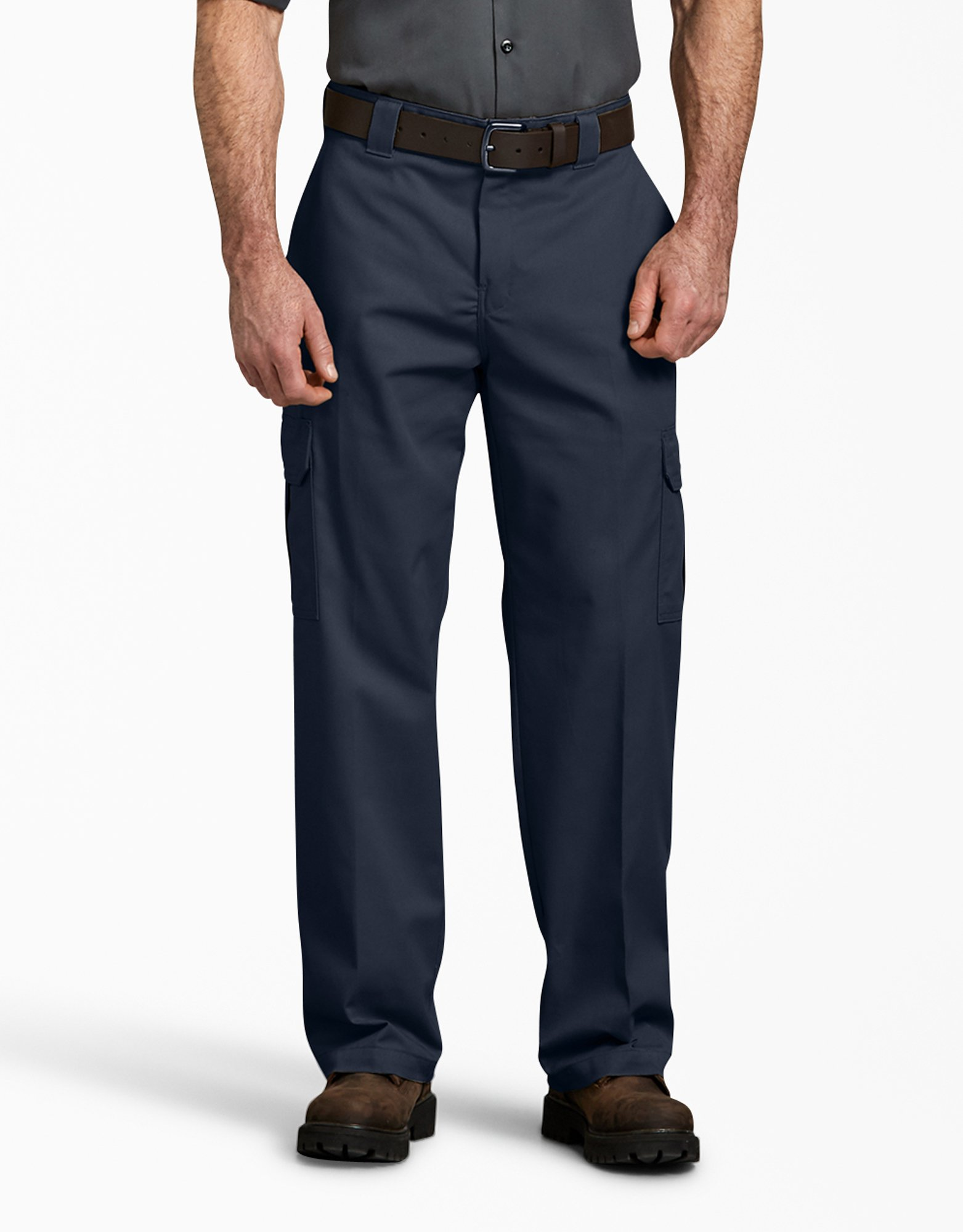 FLEX Relaxed Fit Straight Leg Cargo Pants - Dark Navy (DN)