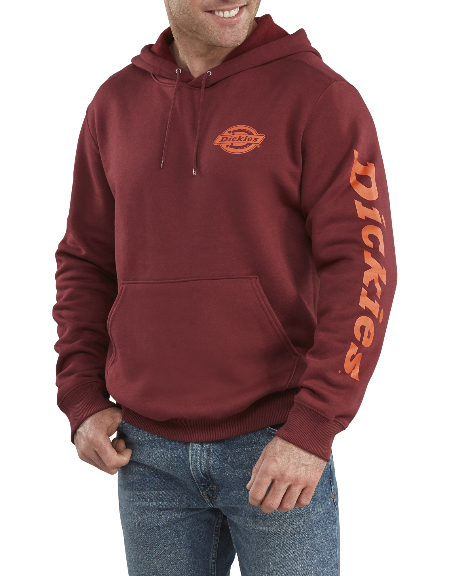 Graphic Fleece Hoodie - Burgundy (BY)