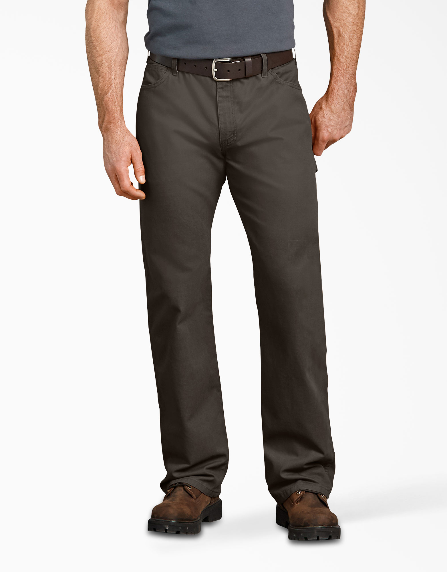 Relaxed Fit Straight Leg Carpenter Duck Jeans - Olive Green (RBV)