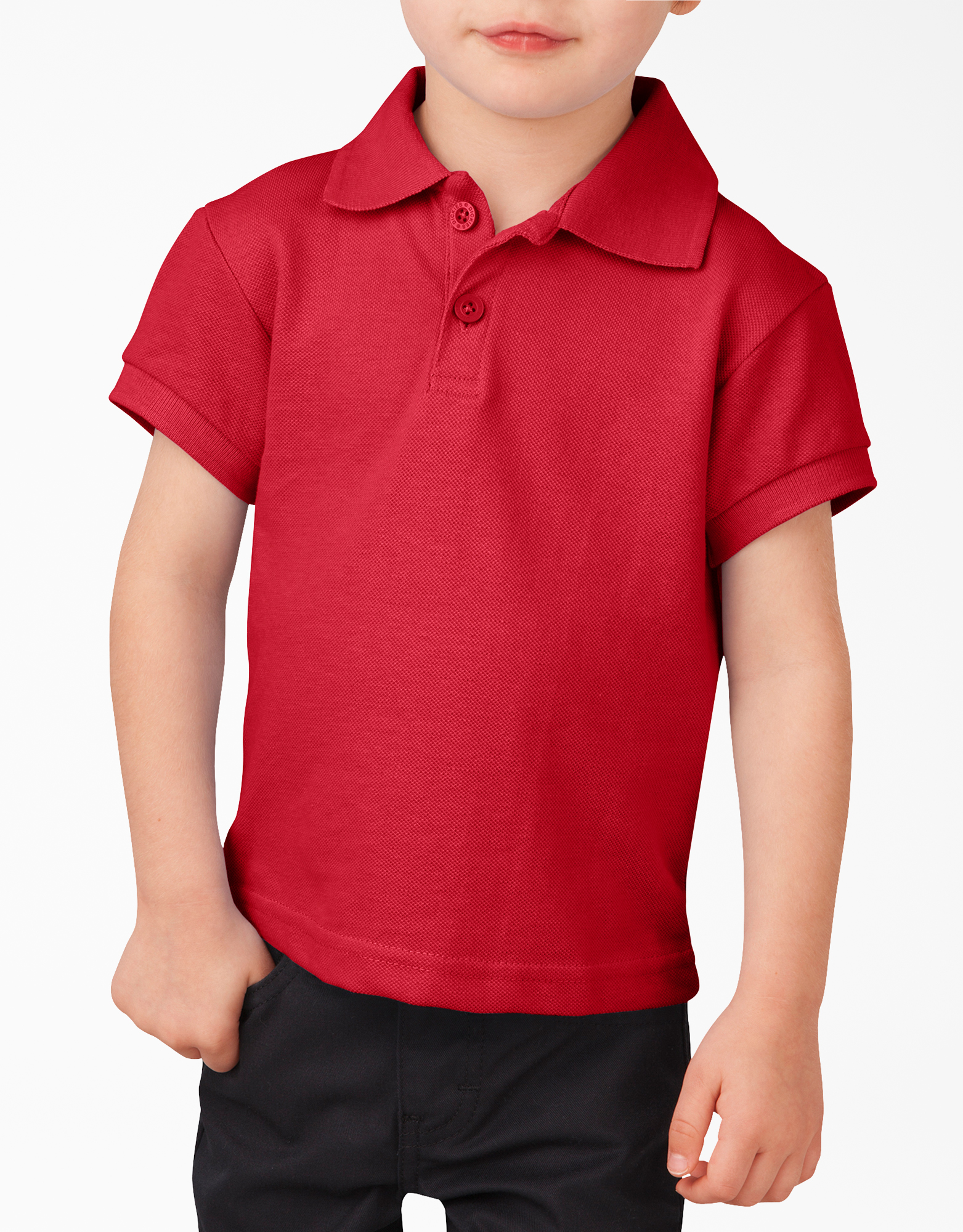 Toddler Short Sleeve Piqué Polo Shirt - English Red (ER)