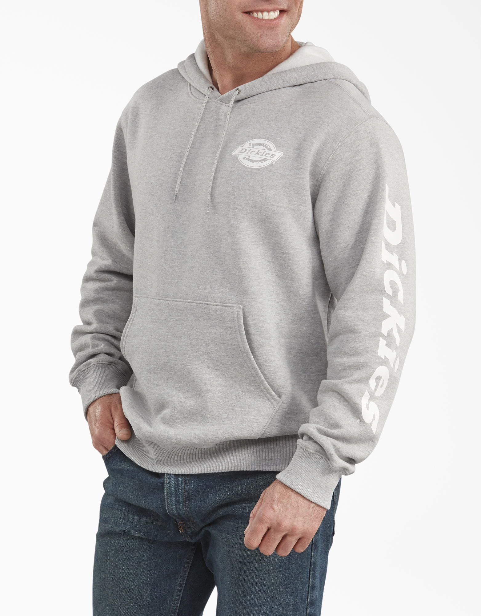 Graphic Fleece Hoodie - Heather Gray (HG)