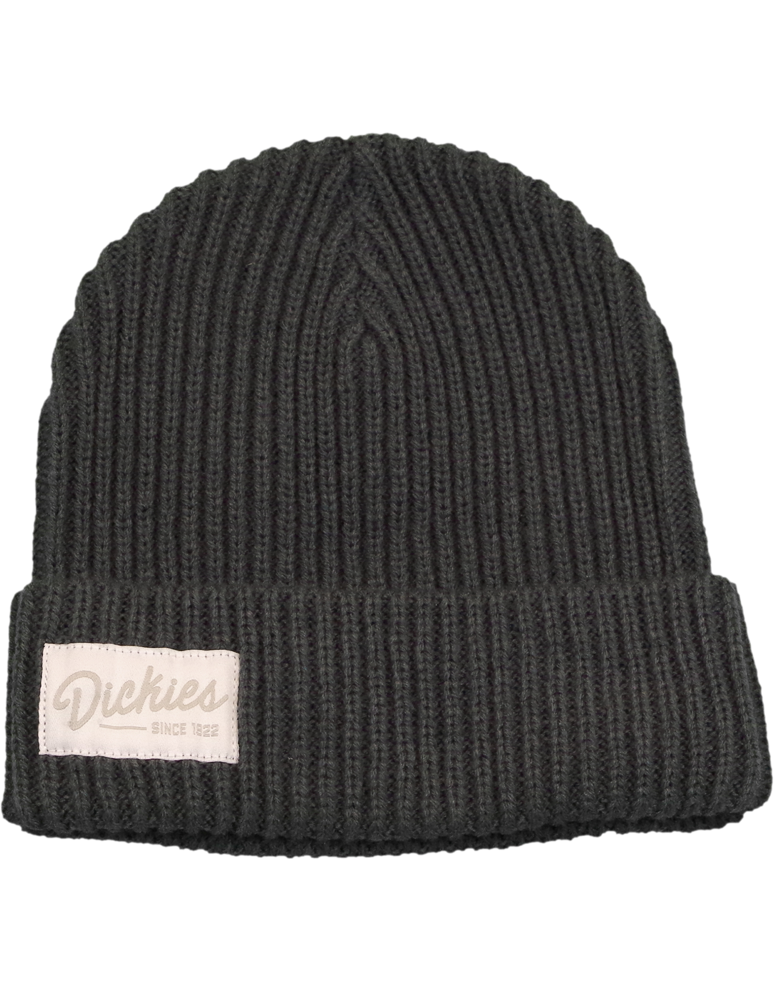 Chunky Knit Cuffed Beanie - Charcoal Gray (CH)