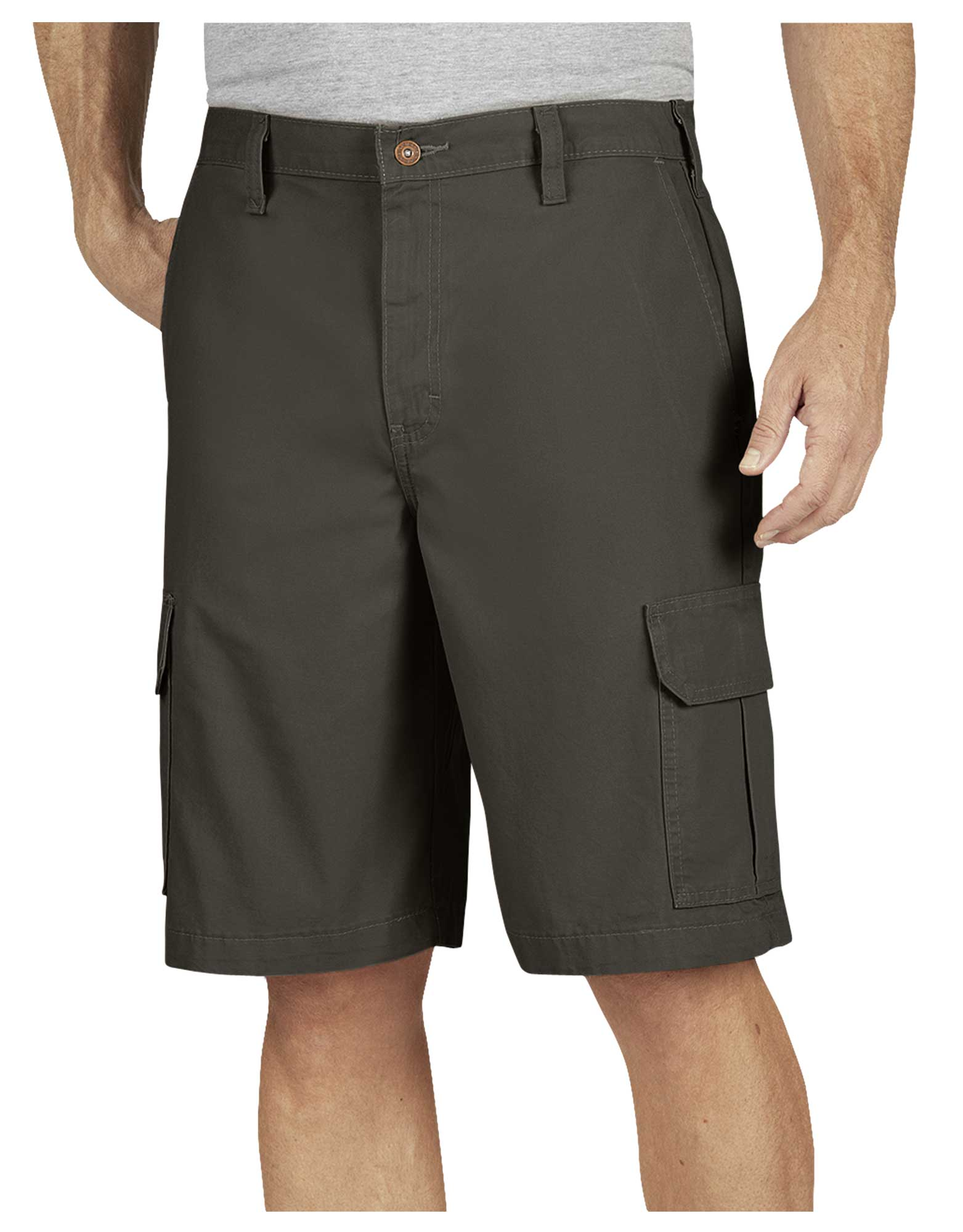 "11"" Relaxed Fit Lightweight Duck Cargo Shorts - Moss Green (RMS)"