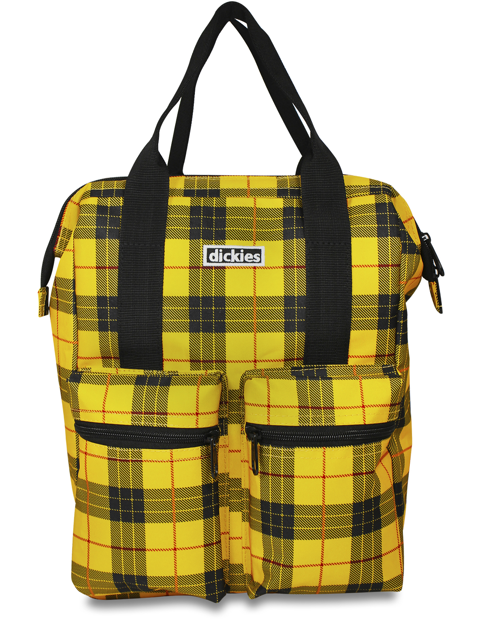 Plaid Hybrid Tote Backpack - Yellow (GL)