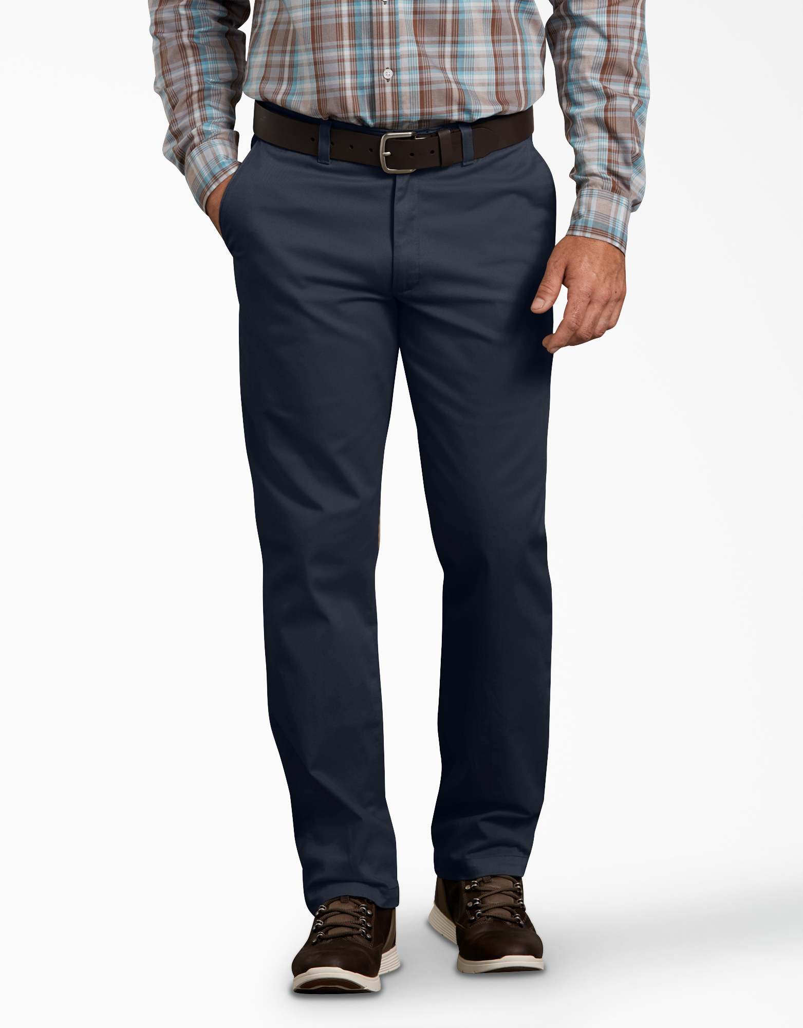 Dickies X-Series Active Waist Regular Tapered Fit Washed Chino Pants - Dark Navy Blue (RDN)