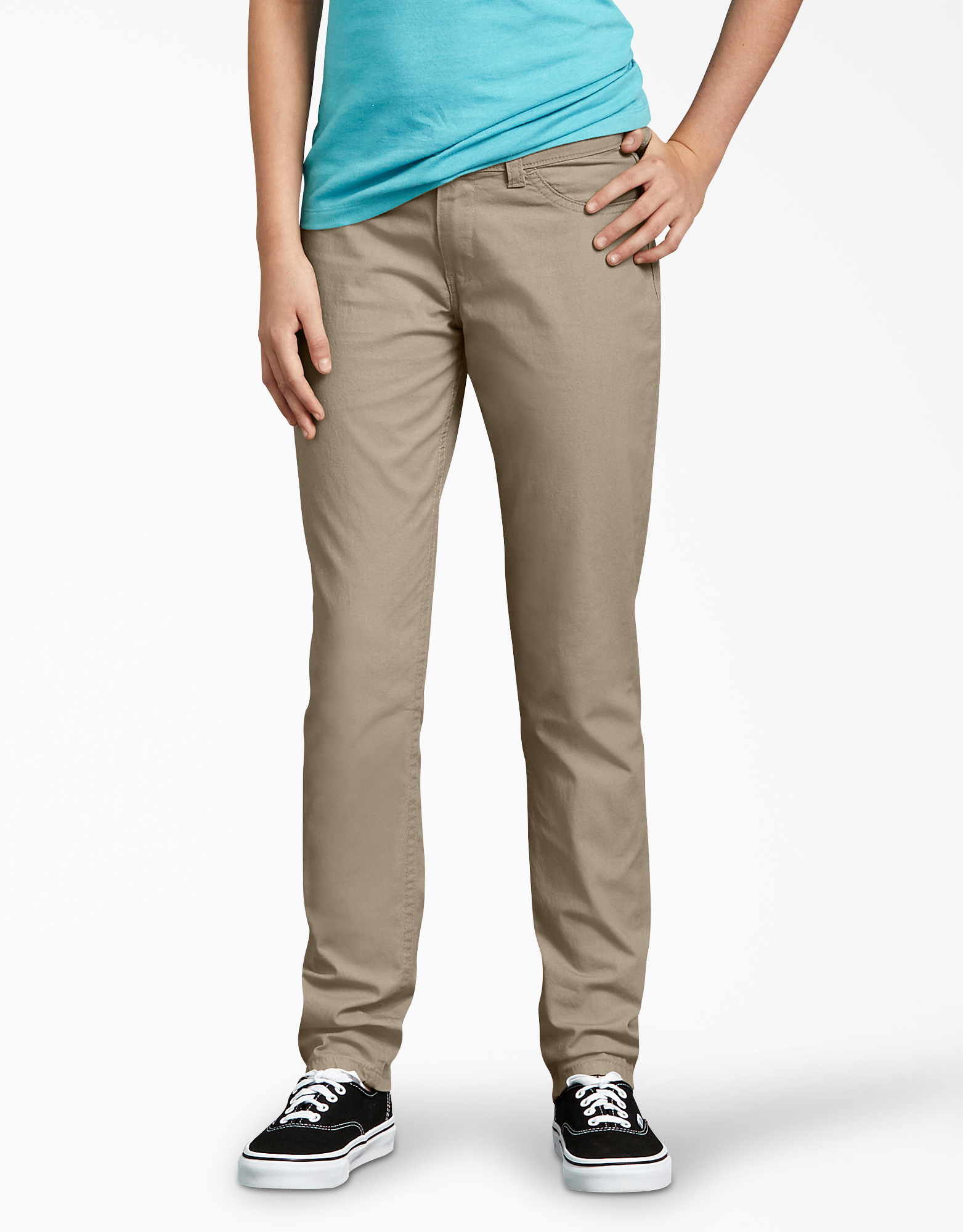 Girls' Super Skinny Fit Skinny Leg Pants, 7-16 - Desert Khaki (RDS)