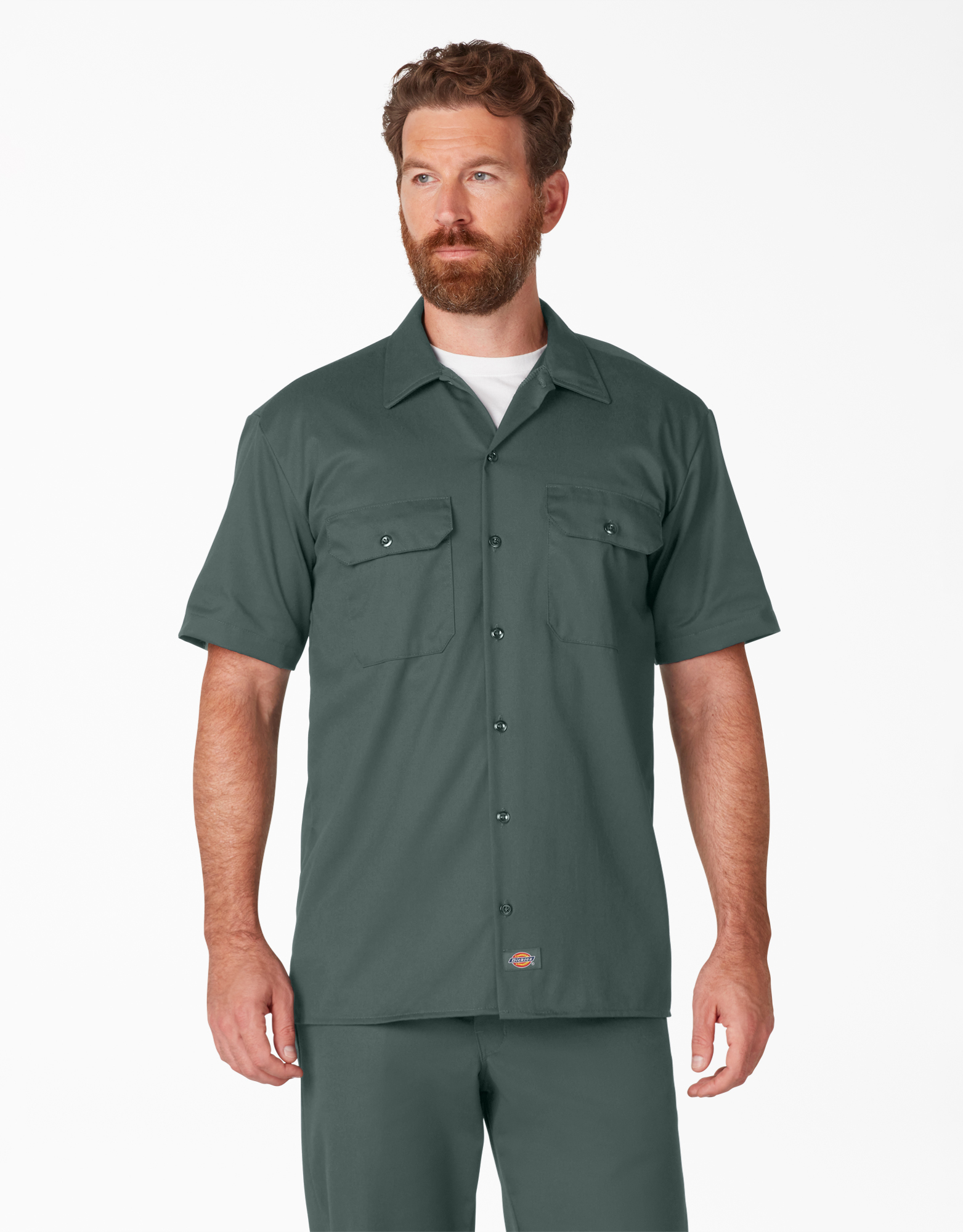 Short Sleeve Work Shirt - Hunter Green (GH)