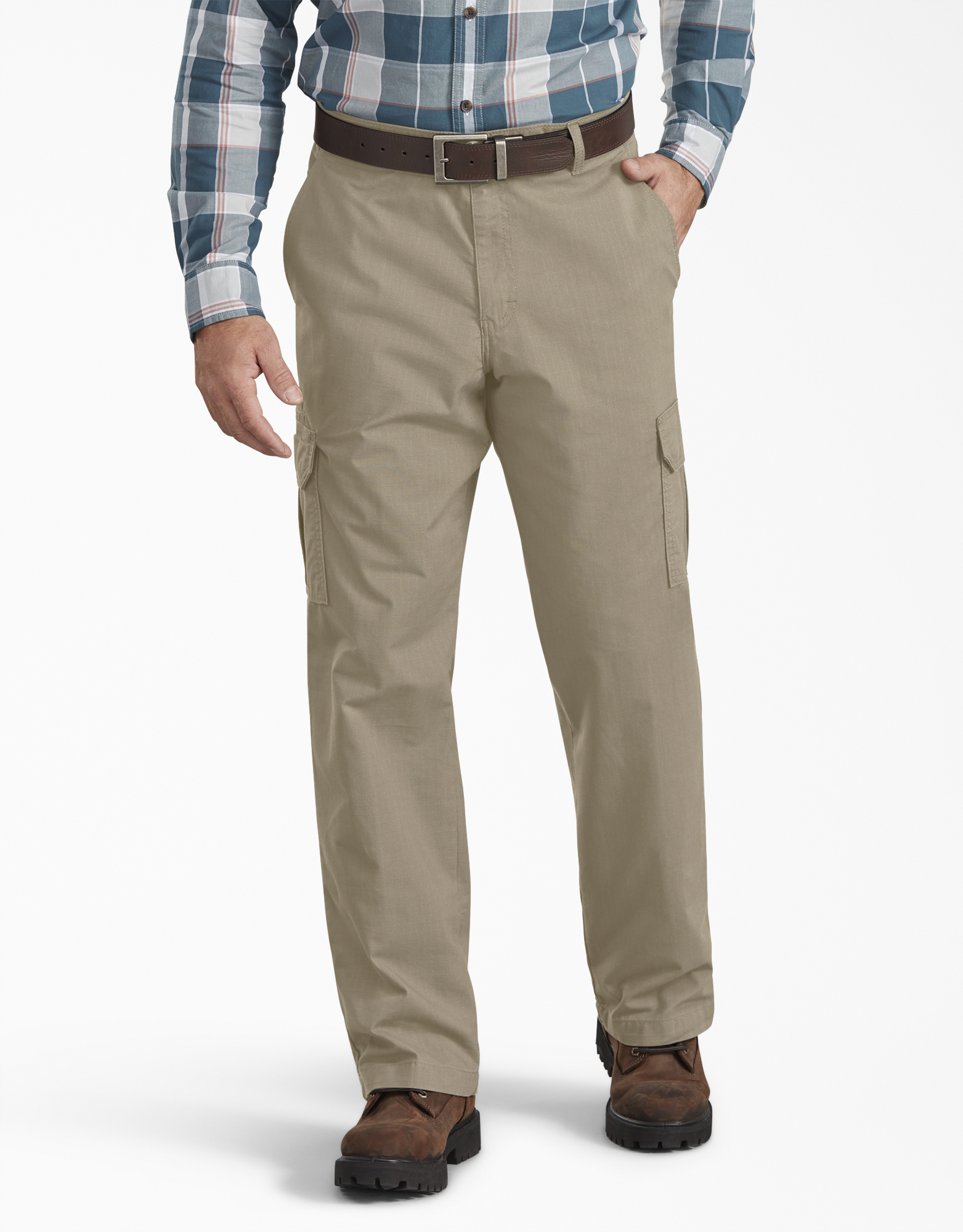 FLEX Regular Fit Ripstop Tough Max™ Cargo Pants - Desert Khaki (RDS)