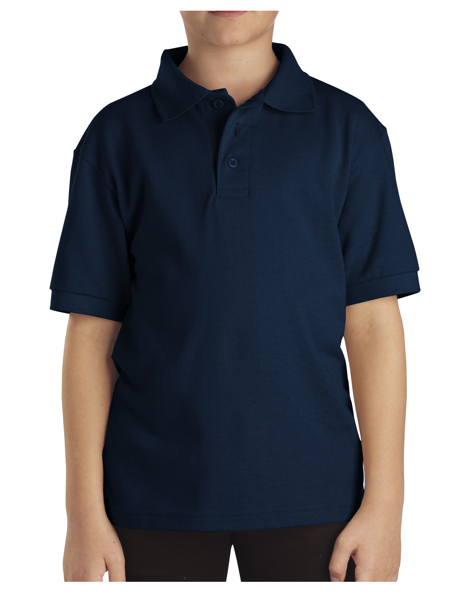 Kids' Short Sleeve Pique Polo Shirt, 4-7 - Dark Navy (DN)